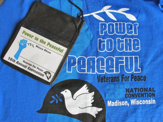 Convention t-shirt and name badge