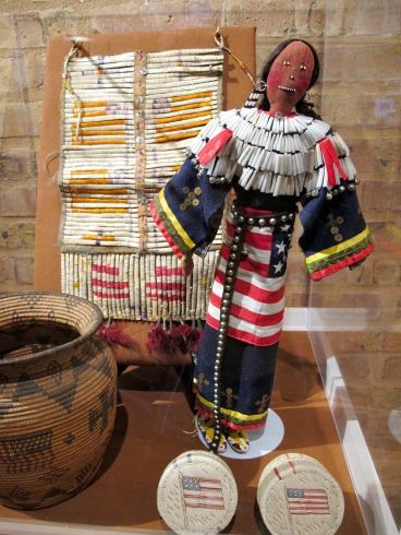 Display case at the Mitchell Museum of the American Indian