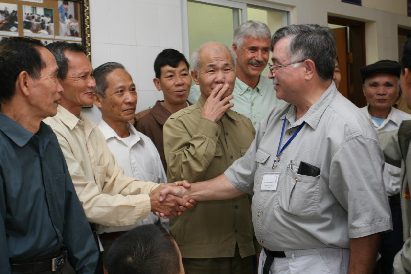US and Vietnamese veterans meet at Friendship Village near Hanoi