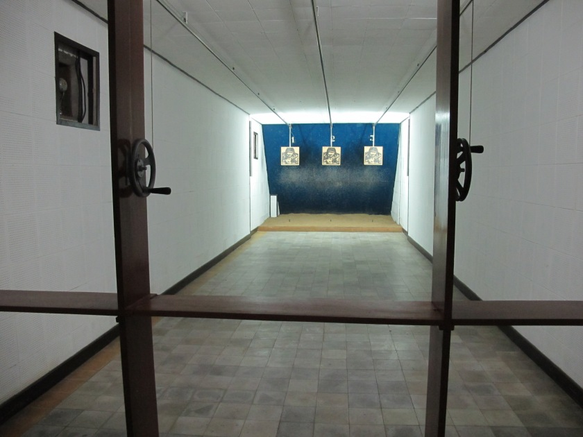 Shooting gallery in the basement of the Reunification Palace. (Photo by Nissa Rhee, June 2014)