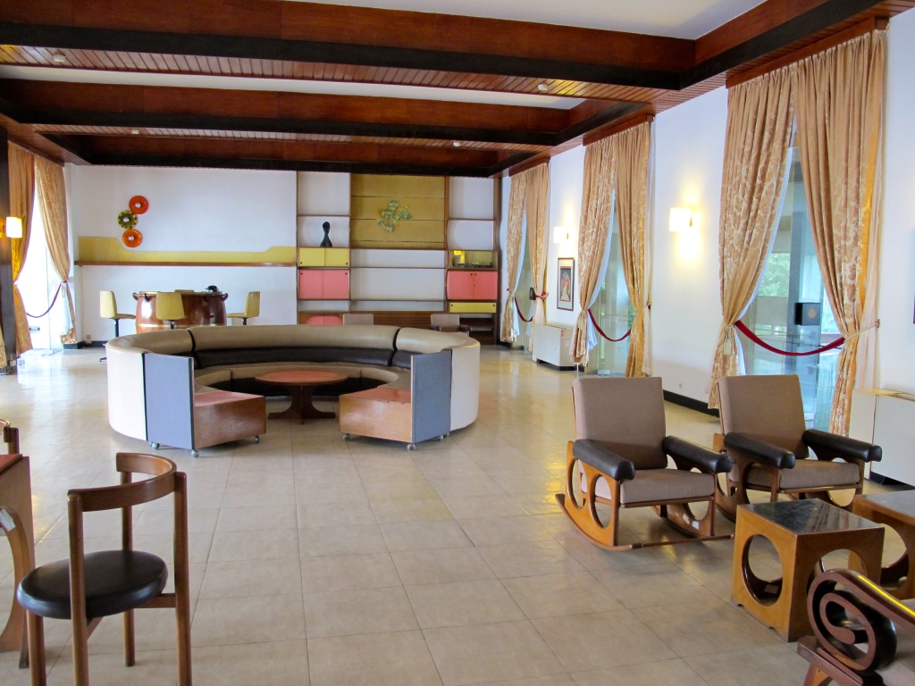 Gambling room in Reunification Palace. (Photo by Nissa Rhee, June 2014)
