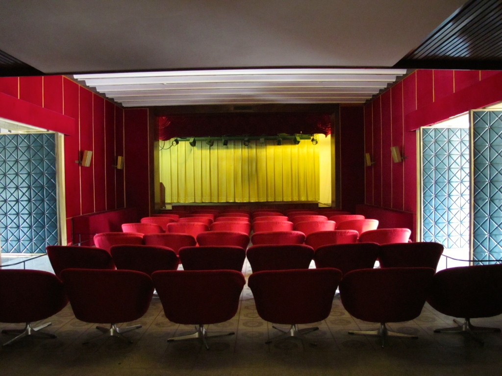 Movie theater in Reunification Palace. (Photo by Nissa Rhee, June 2014)