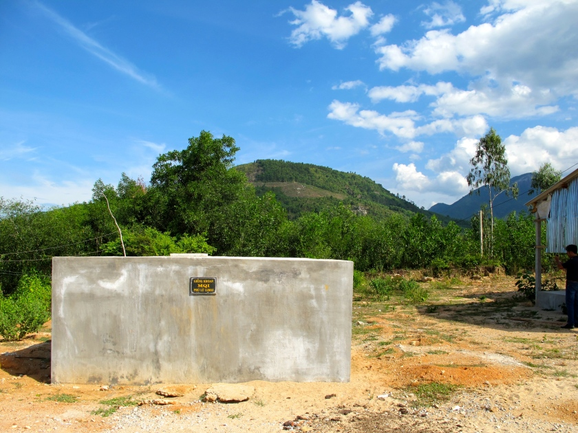 An MQI-funded well in Nghia Tho village in Quang Ngai Provence, Vietnam. (Photo by Nissa Rhee, June 2014)