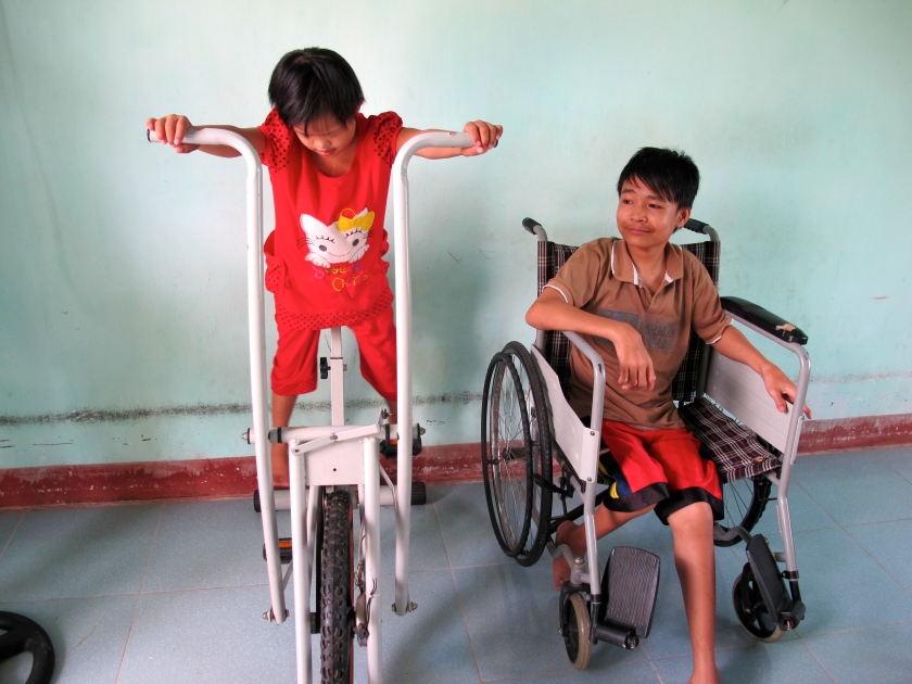 MQI is raising money for an outdoor playground for the children at the VAVA center in Quang Ngai. (Photo by NIssa Rhee, June 2014)