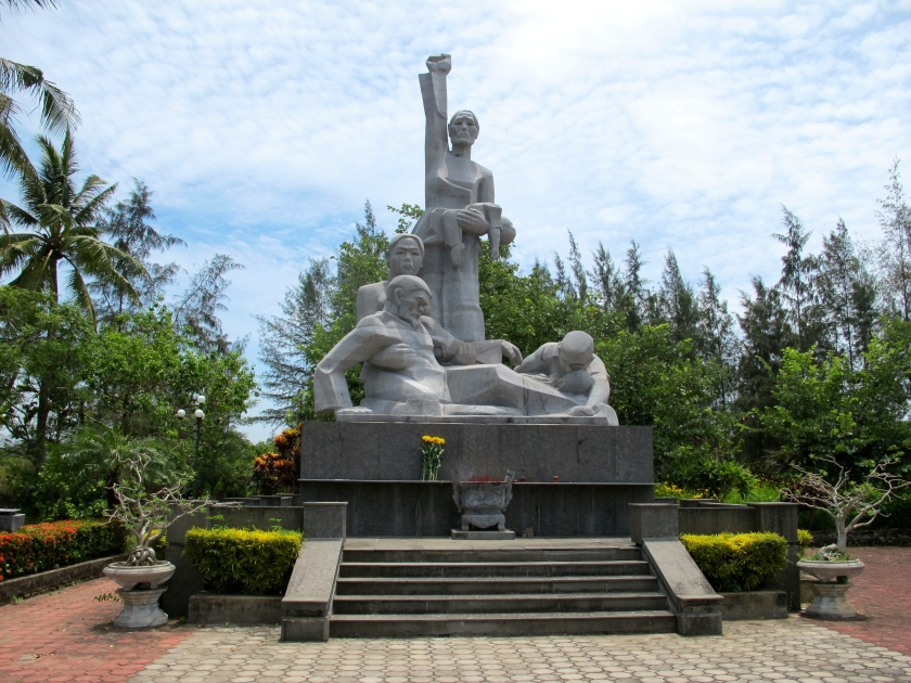 The biggest memorial sculpture at the My Lai massacre site. (Photo by Nissa Rhee, June 2014)