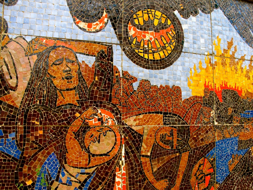 A detail from a mosaic at the My Lai massacre site. (Photo by Nissa Rhee, June 2014)