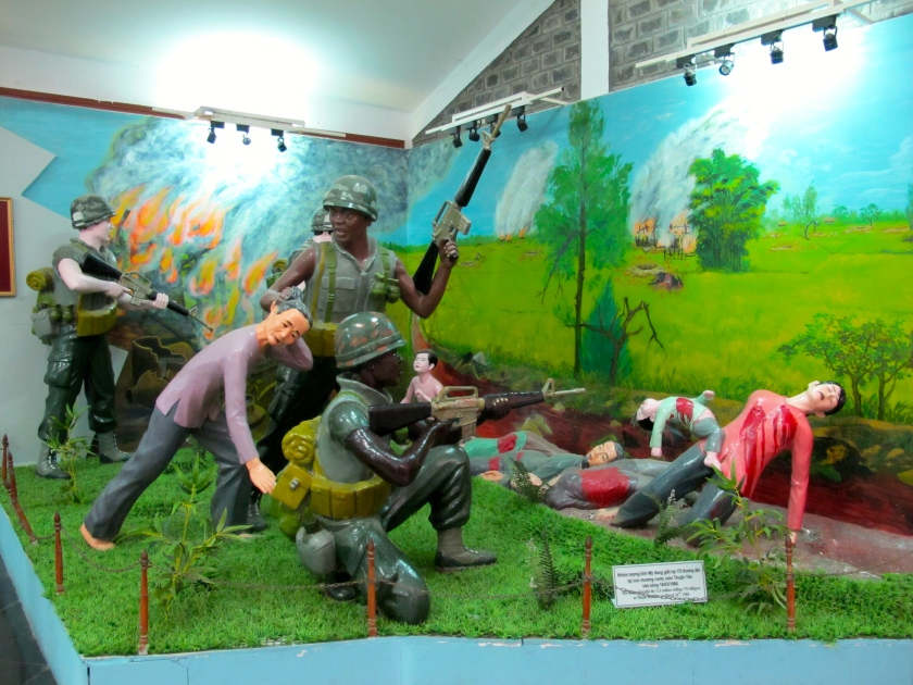 A life-size model of the My Lai massacre at the museum. (Photo by Nissa Rhee, June 2014)