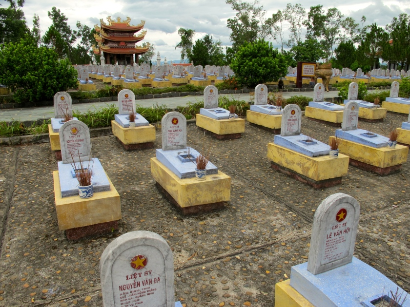 Over 12,000 North Vietnamese fighters are buried at the Route 9 National Cemetery. (Photo by Nissa Rhee, June 2014)