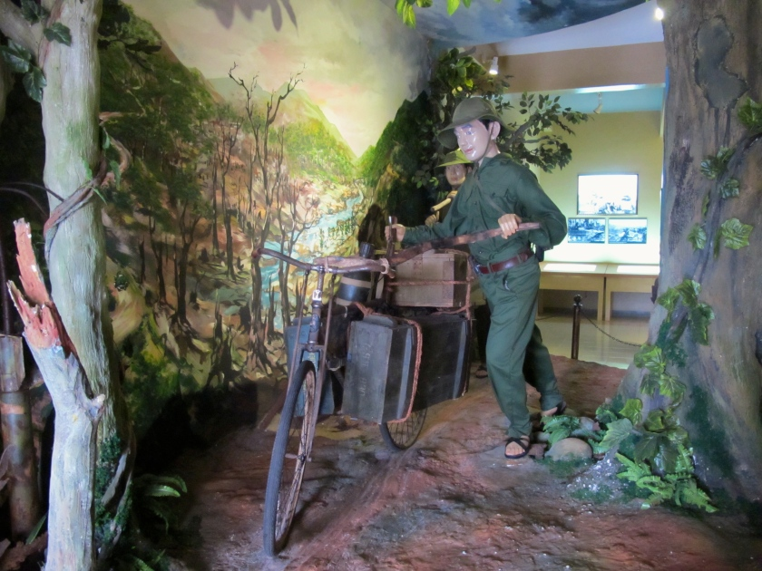 A diorama at the Khe Sanh combat base museum shows how Viet Cong forces traveled along the Ho Chi Minh Trail. (Photo by Nissa Rhee, June 2014).
