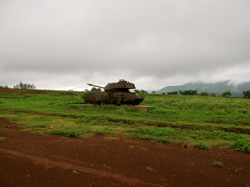 An American tank brought in by the Vietnamese government sits on the former Khe Sanh combat base. (Photo by Nissa Rhee, June 2014)