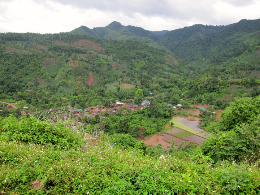 An ethnic minority village in the valley near the former Khe Sanh combat base. (Photo by Nissa Rhee, June 2014)