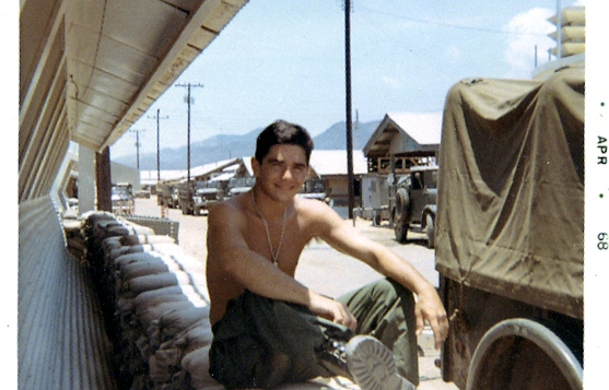 Joe Sciacca in Vietnam during the war. (Photo from  Ordinary Joe movie site)