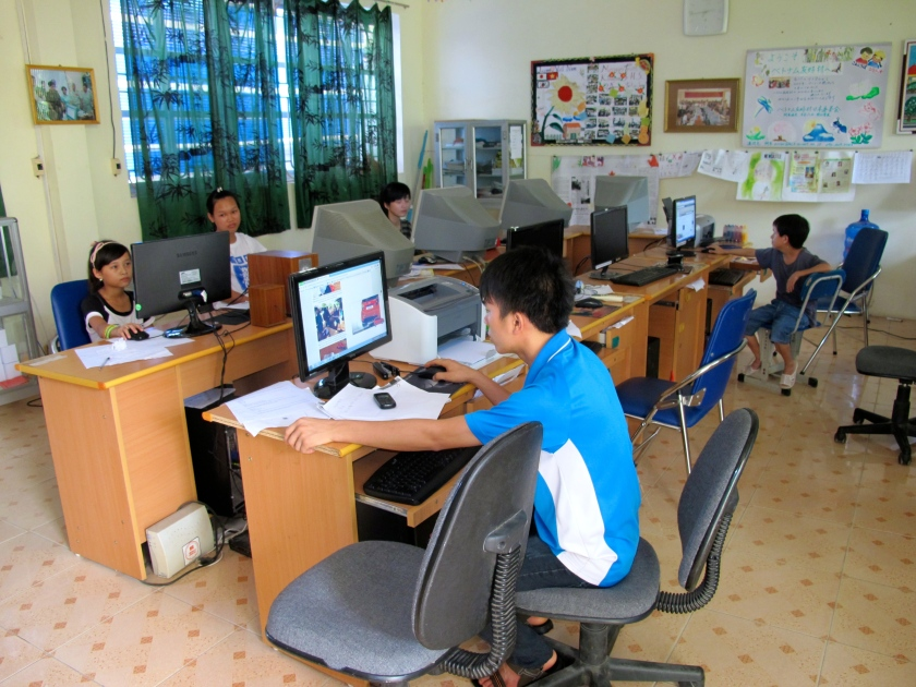 Students in computer lab at Friendship Village