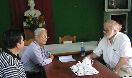 Ken Herrmann meets with Vietnamese representatives in 2010.