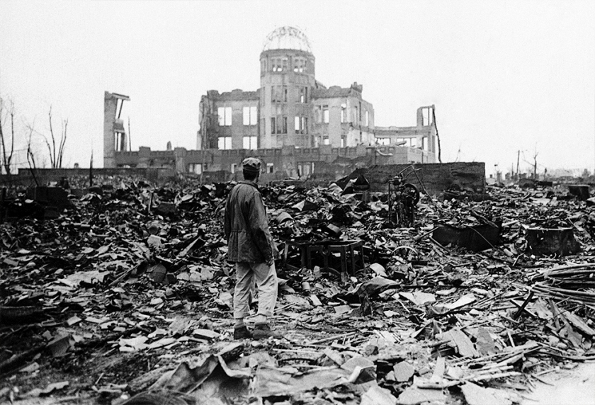 "The ""Peace Dome"" in Hiroshima, taken after the bombing in 1945. (AP)"