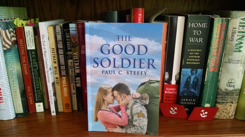 """The Good Soldier"" at home with my other Vietnam books. (Photo by Nissa Rhee)"